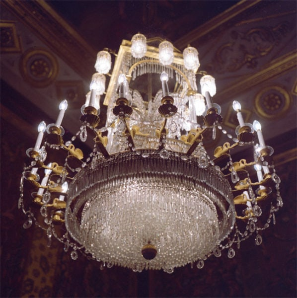 Royal Palace, chandelier, Madrid, 1992/2010, 80 x 80cm, Type C Photograph, Edition of 5 + 1 AP