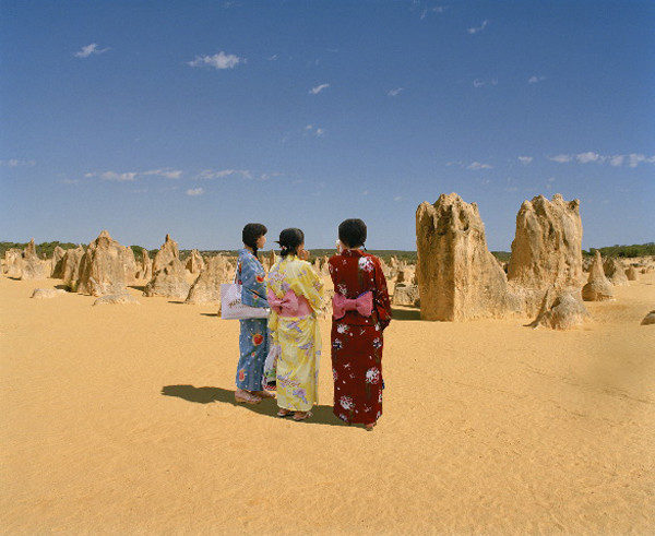Strangers in a Strange Land, Pinnacles Desert, 2003, <br />