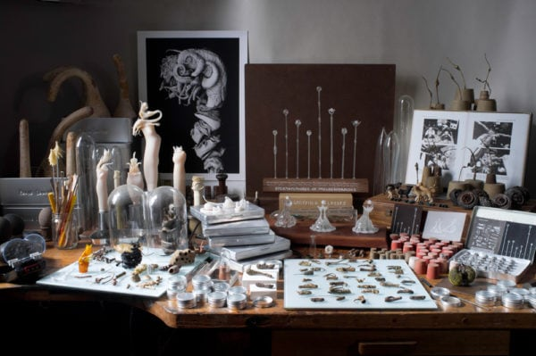 Worktable of Maria Fernanda Cardosa, 2012,<br />