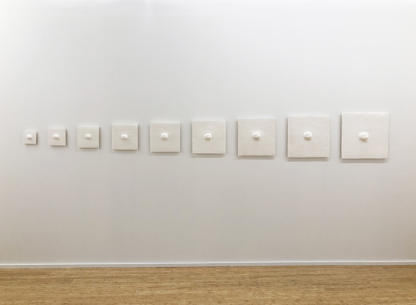 Liam Garstang, 'Psychic Whip', 2013, nine piece ceramic installation, overall 500 x 55 cm