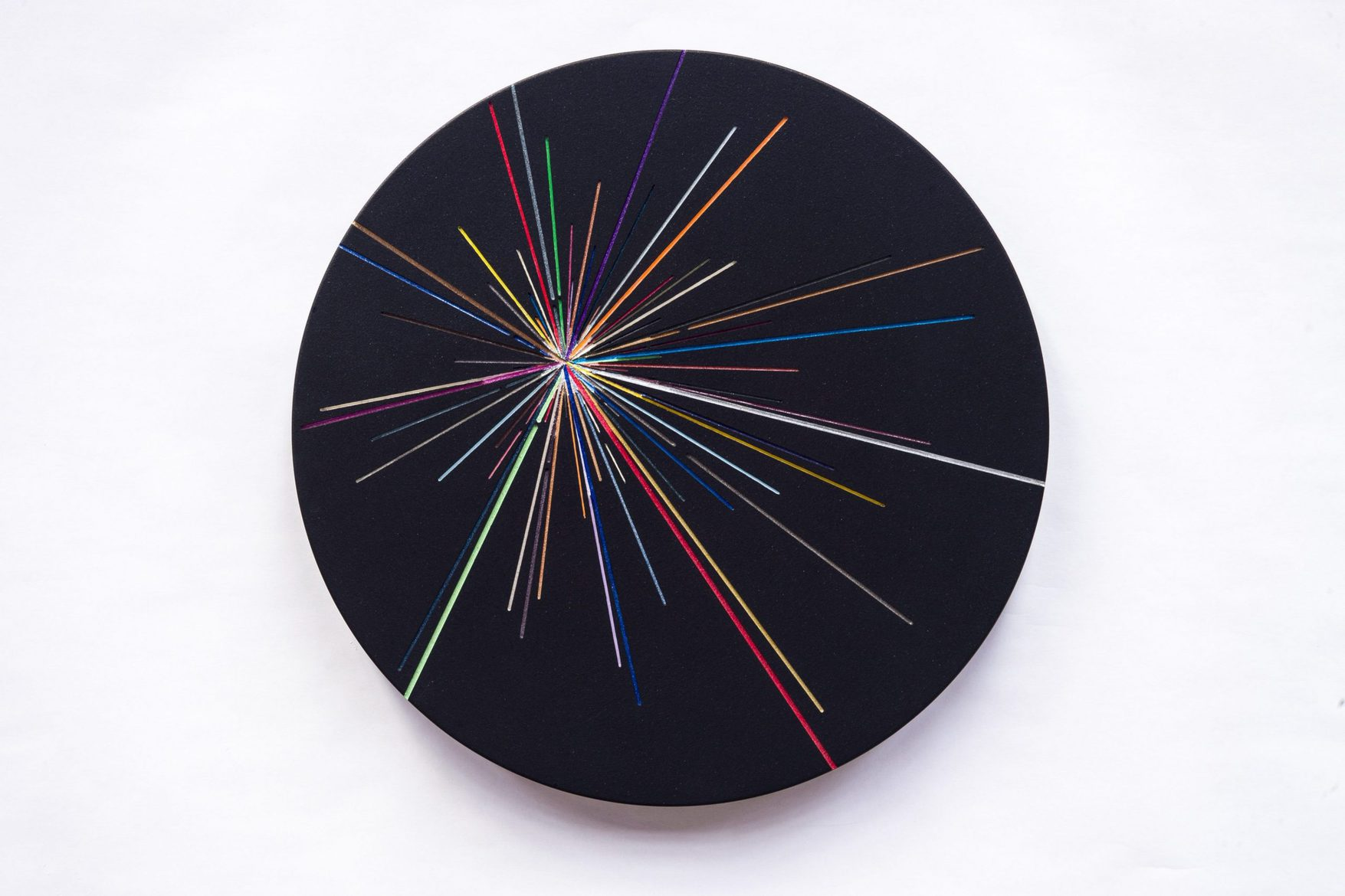 Kevin Osmond, 'Outer Space Series #1', 2015, (Freehand Routed) MDF, acrylic metallic paints, UV clear lacquer, Aluminium fixings, 36.5cm dia, wall-mounted disc x 3.5cm(d)