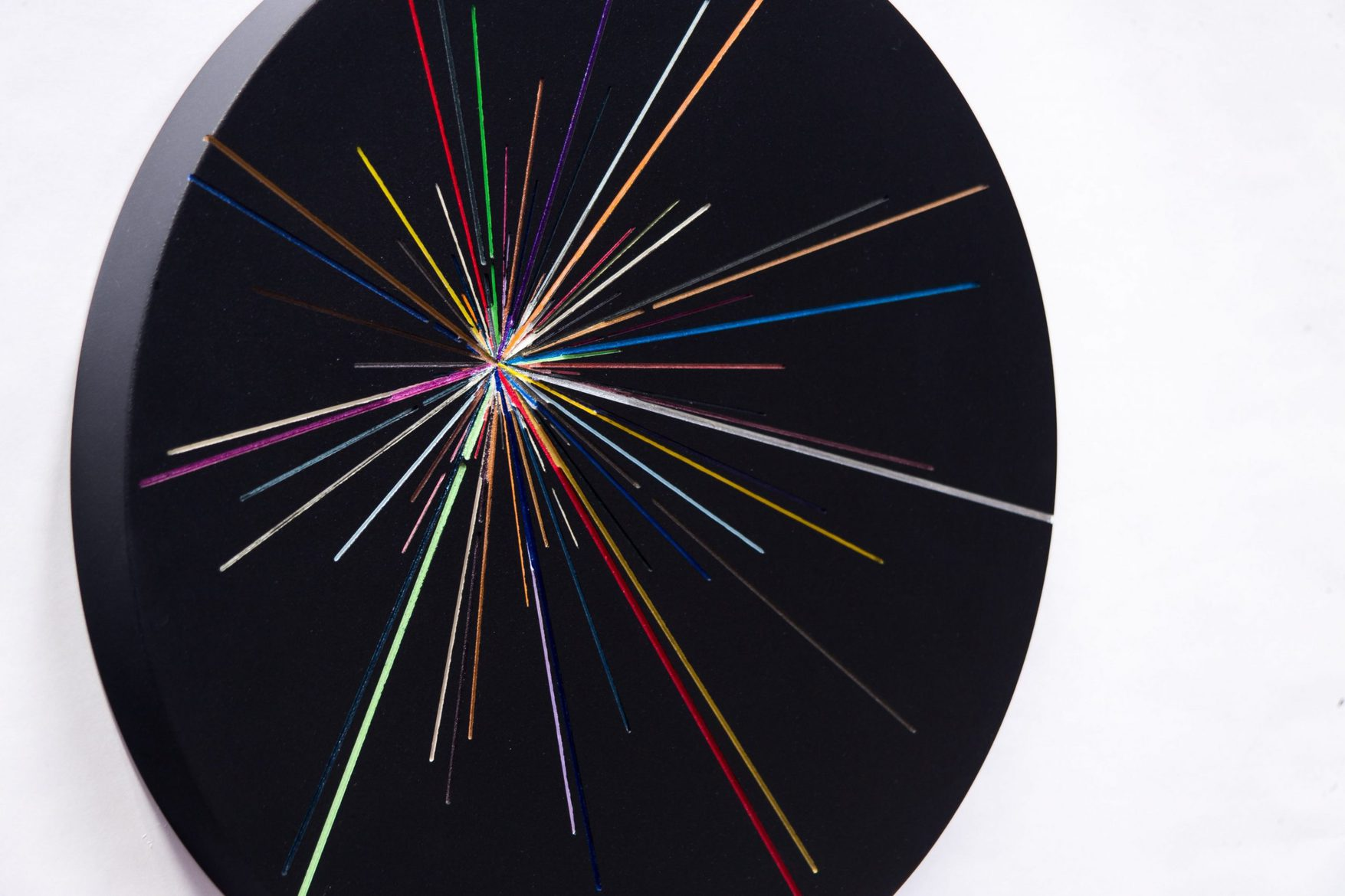 Kevin Osmond, 'Outer Space Series #1' (detail), 2015, (Freehand Routed) MDF, acrylic metallic paints, UV clear lacquer, Aluminium fixings, 36.5cm dia, wall-mounted disc x 3.5cm(d)