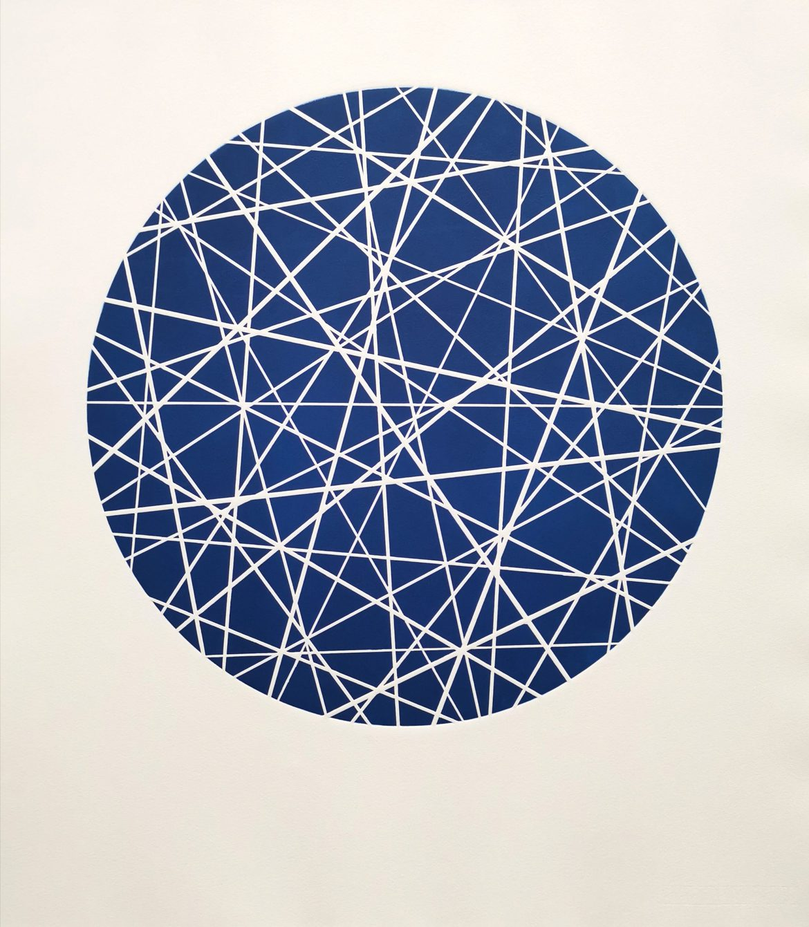 Intersecting (Midnight Blue), woodblock print, 300gsm hanhemuhle deckled edge etching paper, edition of 5, 79cm x 69.5cm