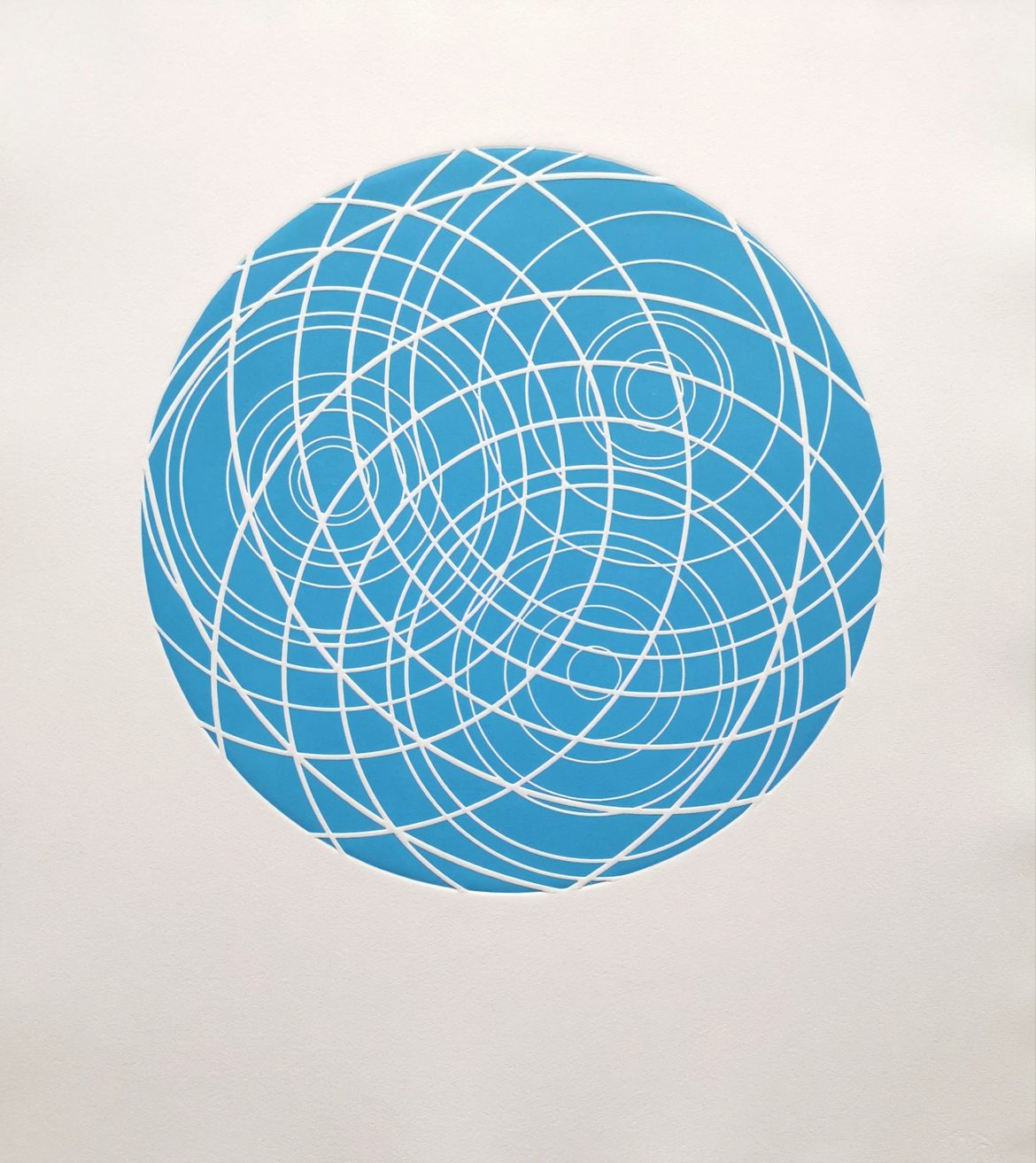 Ripples (Sky Blue), woodblock print, 300gsm hanhemuhle deckled edge etching paper, edition of 5, 61cm x 52cm