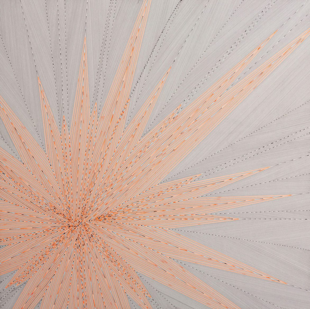 Kevin Osmond, 'Flash point', 2012, Fluorescent orange and grey pens on ʻWhite' 300gsm archival paper (Original drawing signed and dated on verso), 50 x 50cm