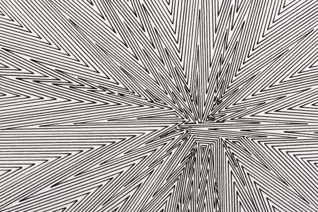 Kevin Osmond, 'Binary System #1' (detail), 2012, Black pen on ʻWhite' 300gsm archival paper (Original<br /> drawing signed and dated on verso), 50 x 50cm