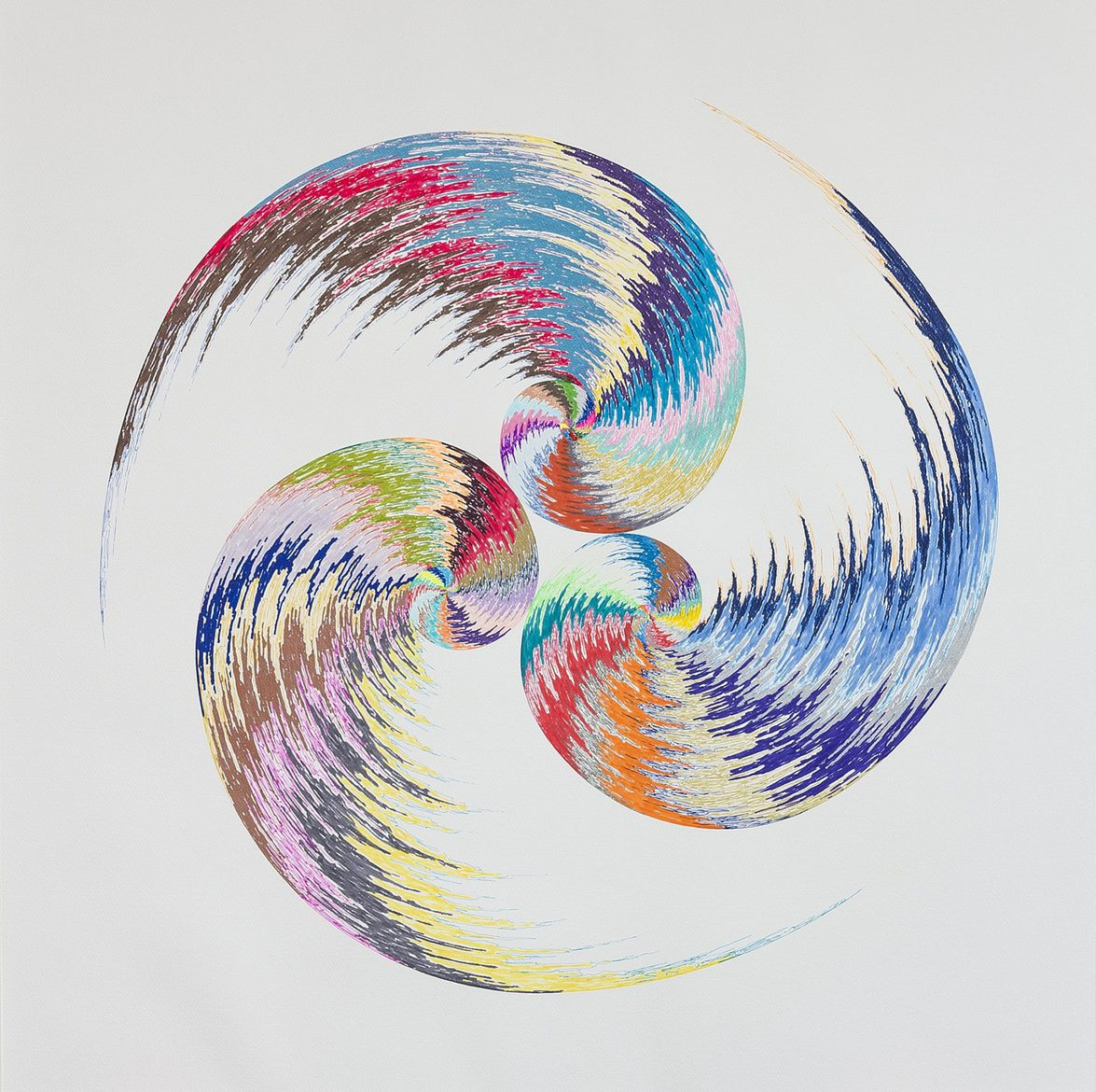 Kevin Osmond, 'Golden Spiral #9', 2014, Coloured pens on ʻWhite' 300gsm archival paper (Original drawing signed and dated on verso), 85 x 85cm