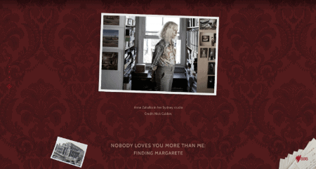 Anne Zahalka's 'Finding Margarete' nominated for two website awards