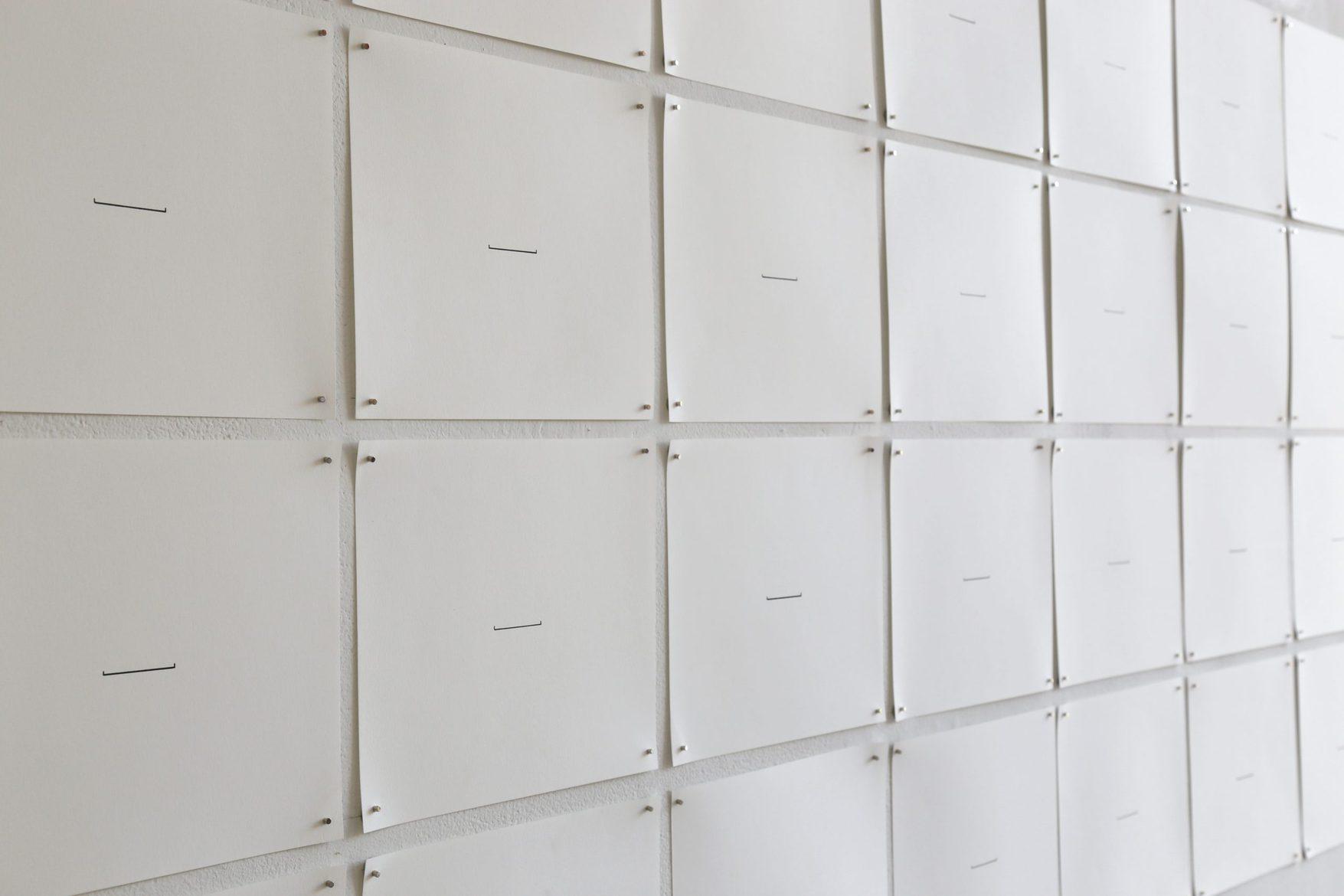 Sara Morawetz, 'Departure', 2015 – ongoing, lifelong performance and artefact (archival pen on paper), 24 x 21 cm