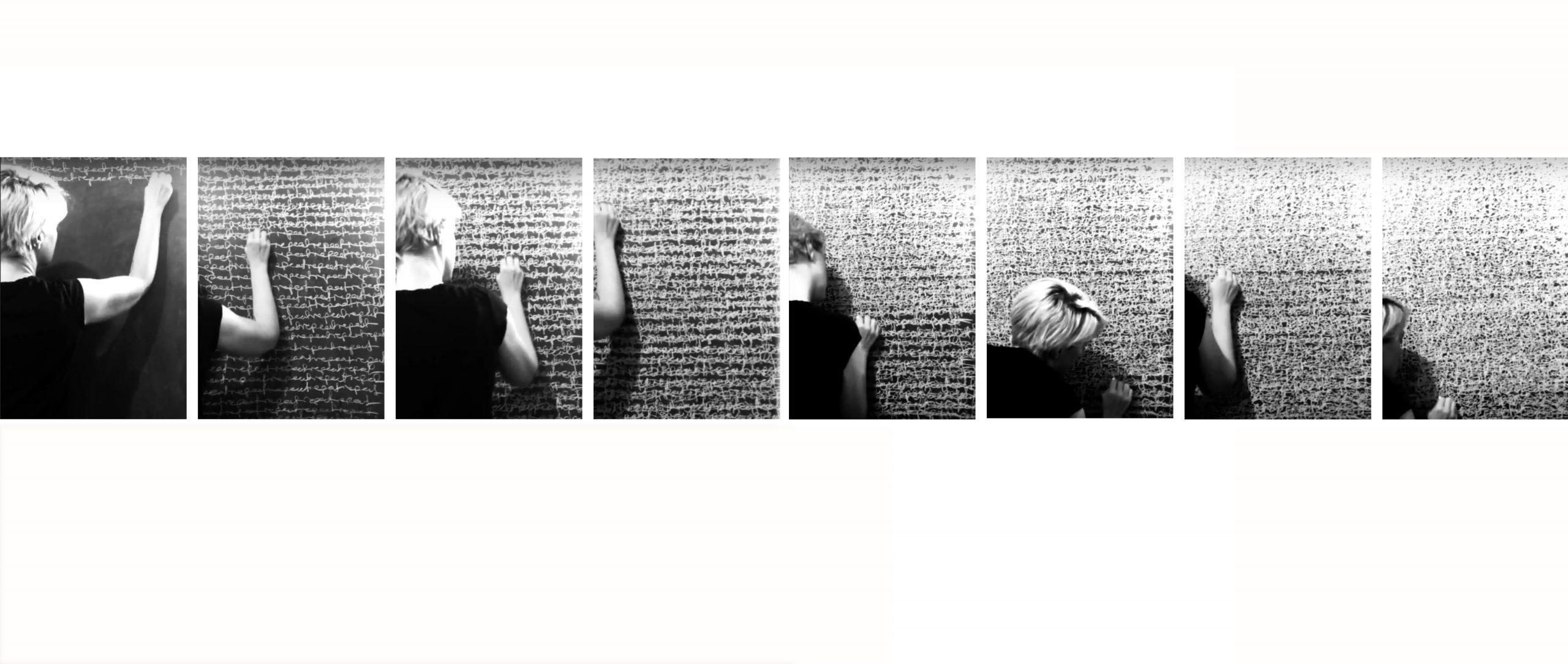 Sara Morawetz, 'Repeat Repeat', 2014 / 2019, durational performance and artefact, 90 x 150 cm diptych