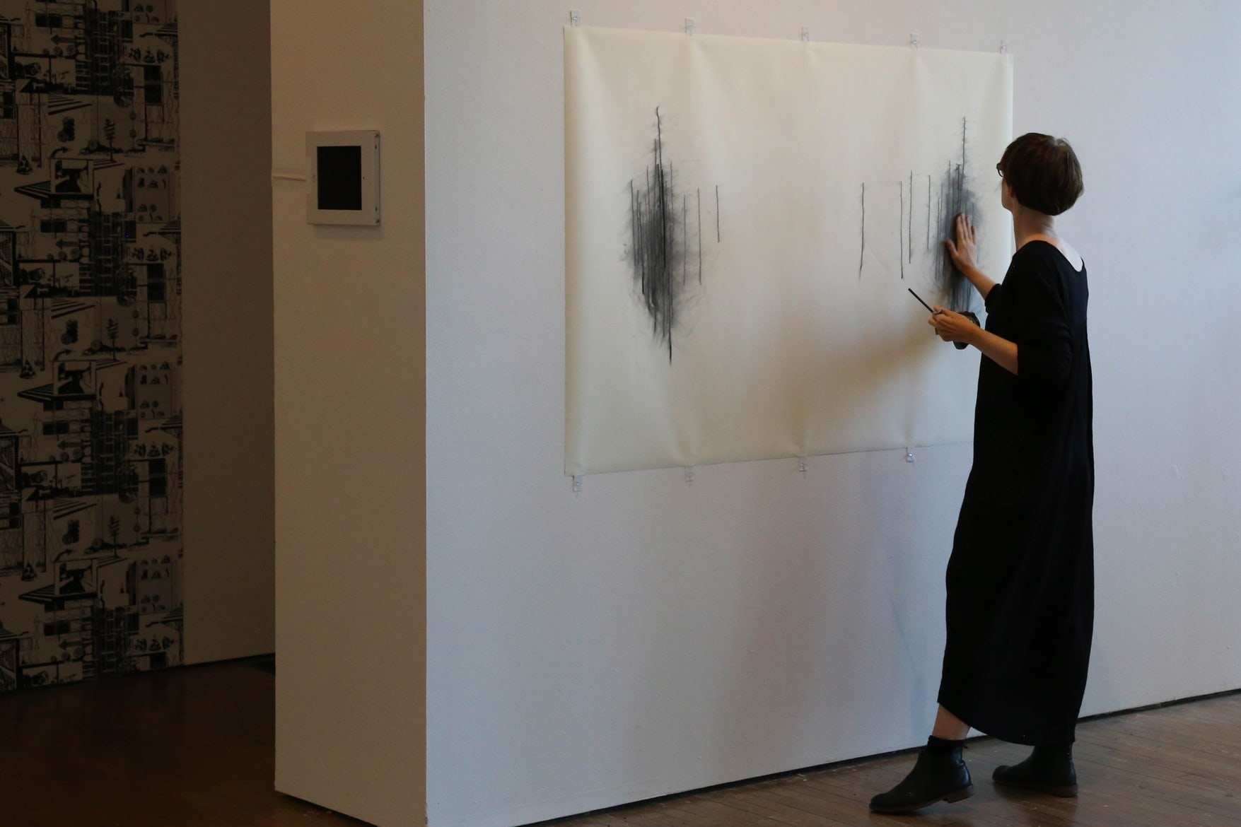 Sara Morawetz, 'Acts of Inexactitude', 2018, pencil on paper and single channel video work
