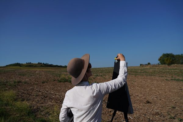 Sara Morawetz on Day Fifty Eight from Coudes to Sain-Germain-Lembrom during 'étalon', 2018, photograph from 112 day performative walk from Dunkerque to Barcelona