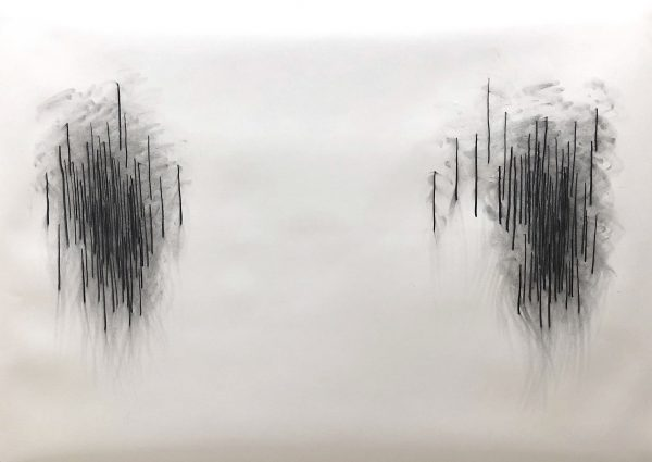 Sara Morawetz, 'Acts of Inexactitude III' (detail), 2019, charcoal on paper and single channel video work, 112 x 155 cm, 21:16 mins, both works unique