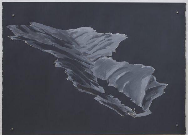 'Zealandia drawing II', 2018, acrylic on paper, 76 x 56 cm