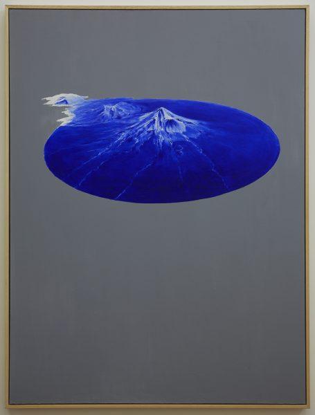 'Taranaki object', 2018, oil, wax, concrete and acrylic on board, 90 x 120 cm
