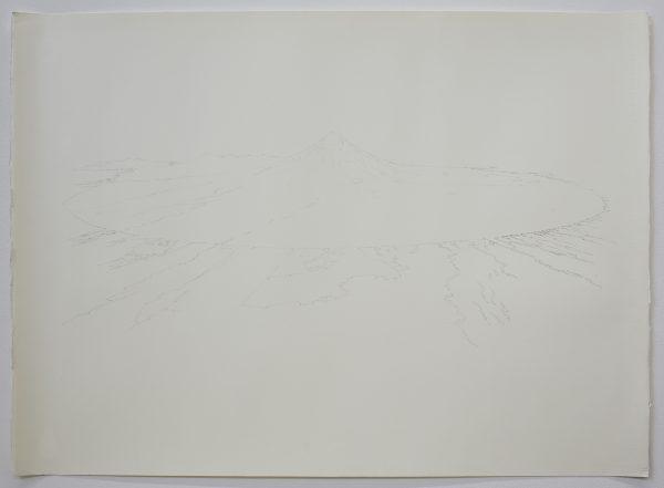 'Taranaki drawing I', 2018, watercolour on paper, 76 x 56 cm