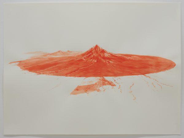 'Taranaki drawing III', 2018, watercolour on paper, 76 x 56 cm