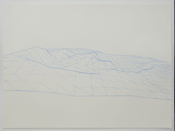 'Tower Hill Diorama drawing I', 2018, pencil on paper, 76 x 56 cm