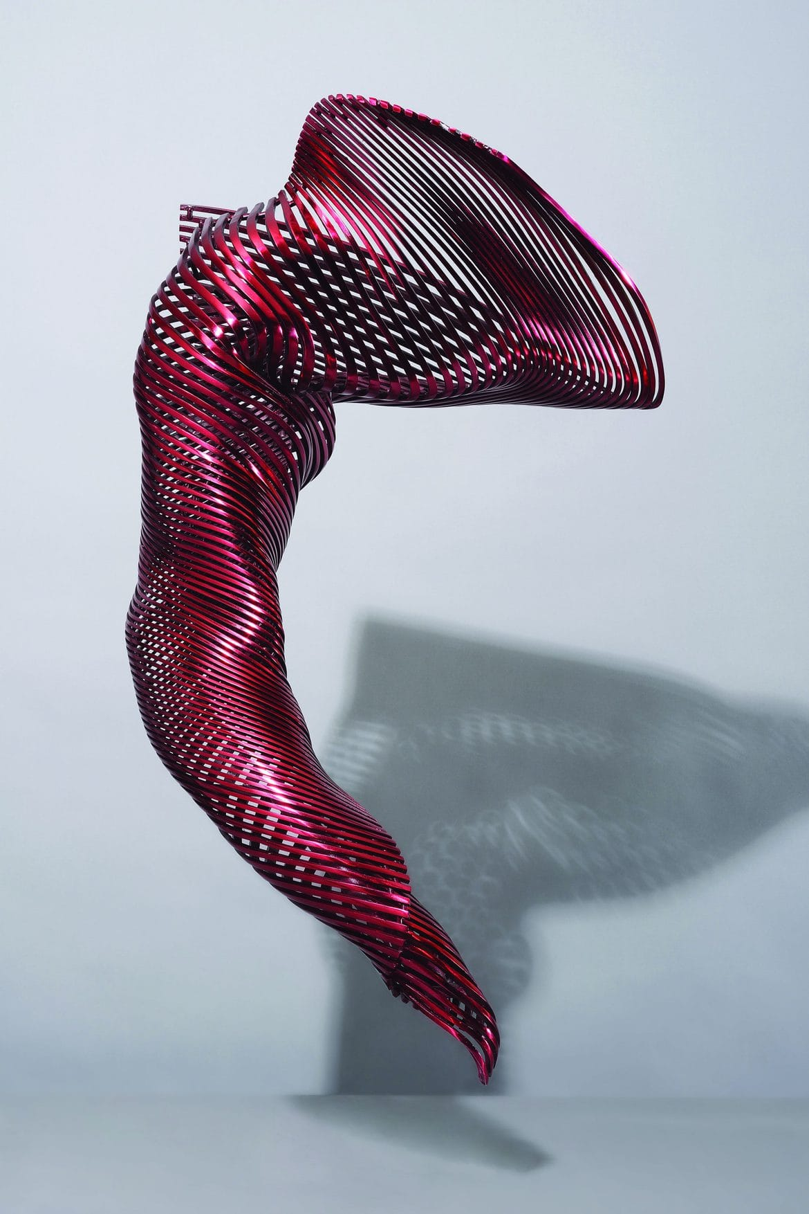 'I Am-Dancer', 2015, stainless steel, red polychrome, 100 x 41 x 56 cm, artist's proof,<br /> edition of 5 + 1AP