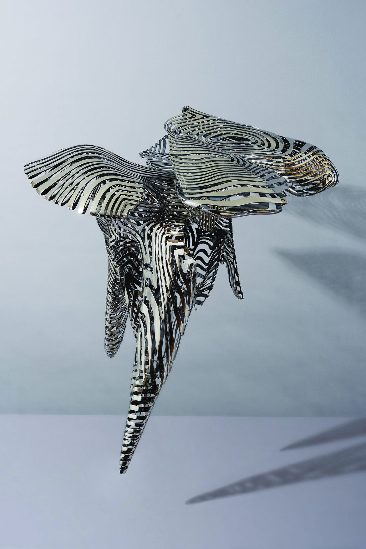 'Come to the Edge 3', 2012, stainless steel, 123 x 122 x 117 cm, edition 1 of 5 + 1AP