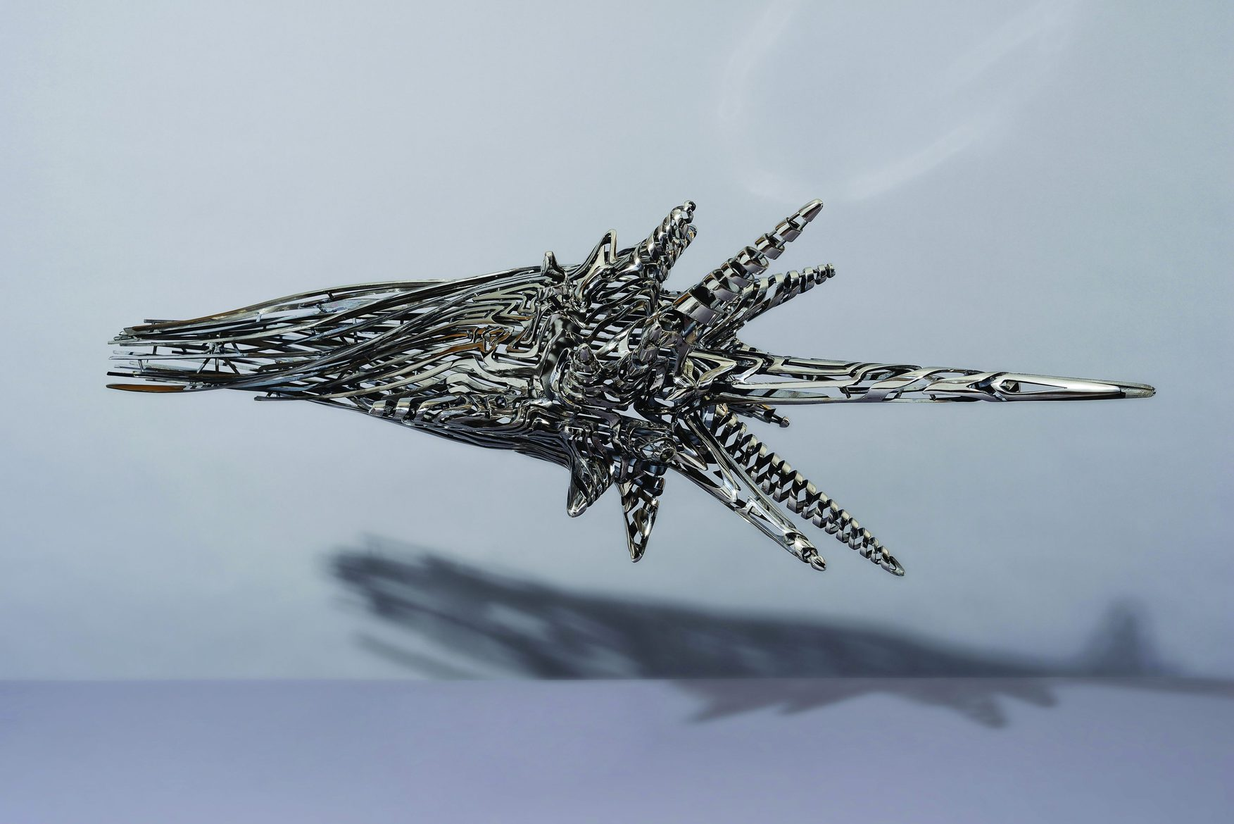 'Come to the Edge 4', 2012, stainless steel, 61 x 137 x 61 cm, edition 1 of 5 + 1AP