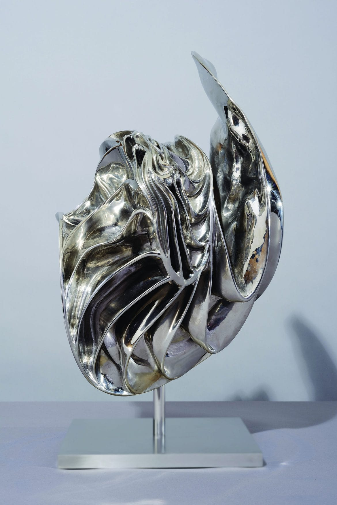 'Molten Concept 19', 2012, stainless steel, 67 x 50 x 44 cm, edition 1 of 7 + 1AP