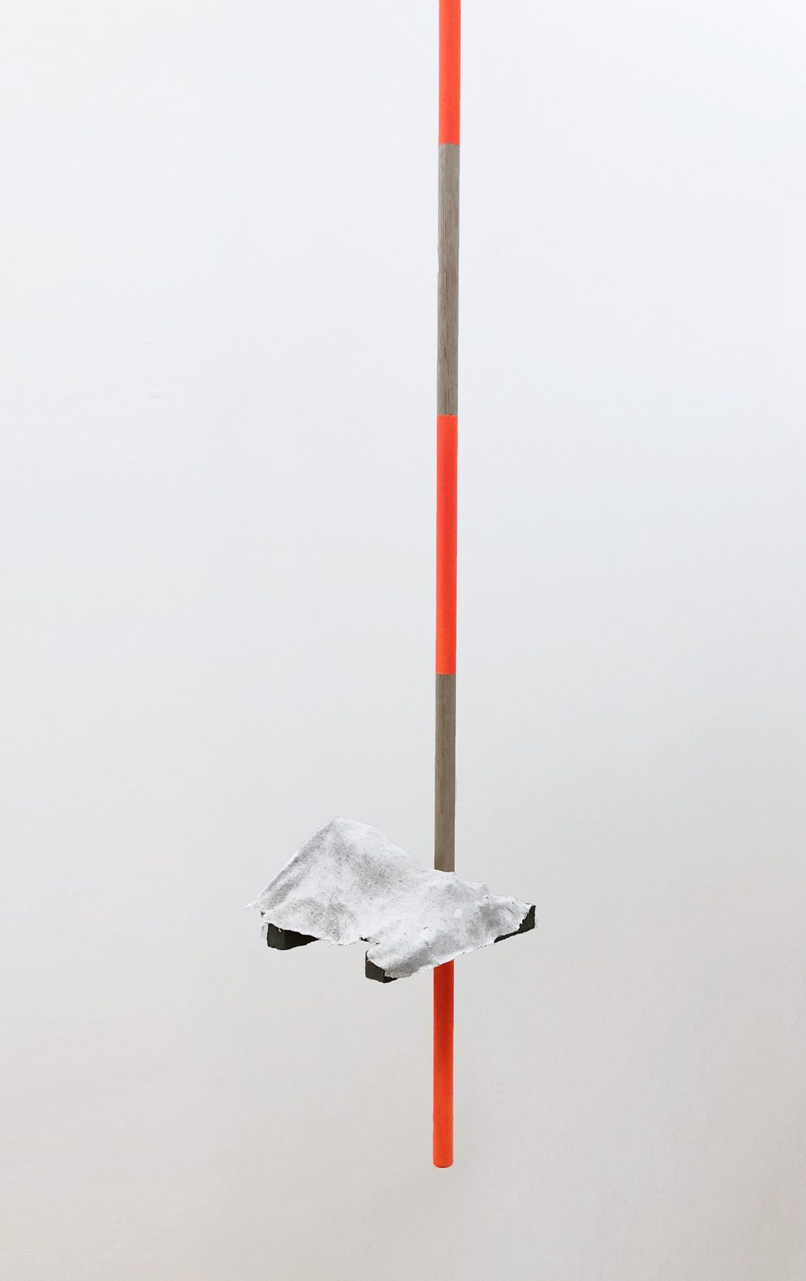 'Outrigger', 2019, oil and resin on linen, timber, 180 x 40 x 40cm