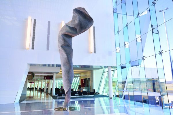 'I Am', 2012, bronze and stainless steel, Canberra International Airport, ACT