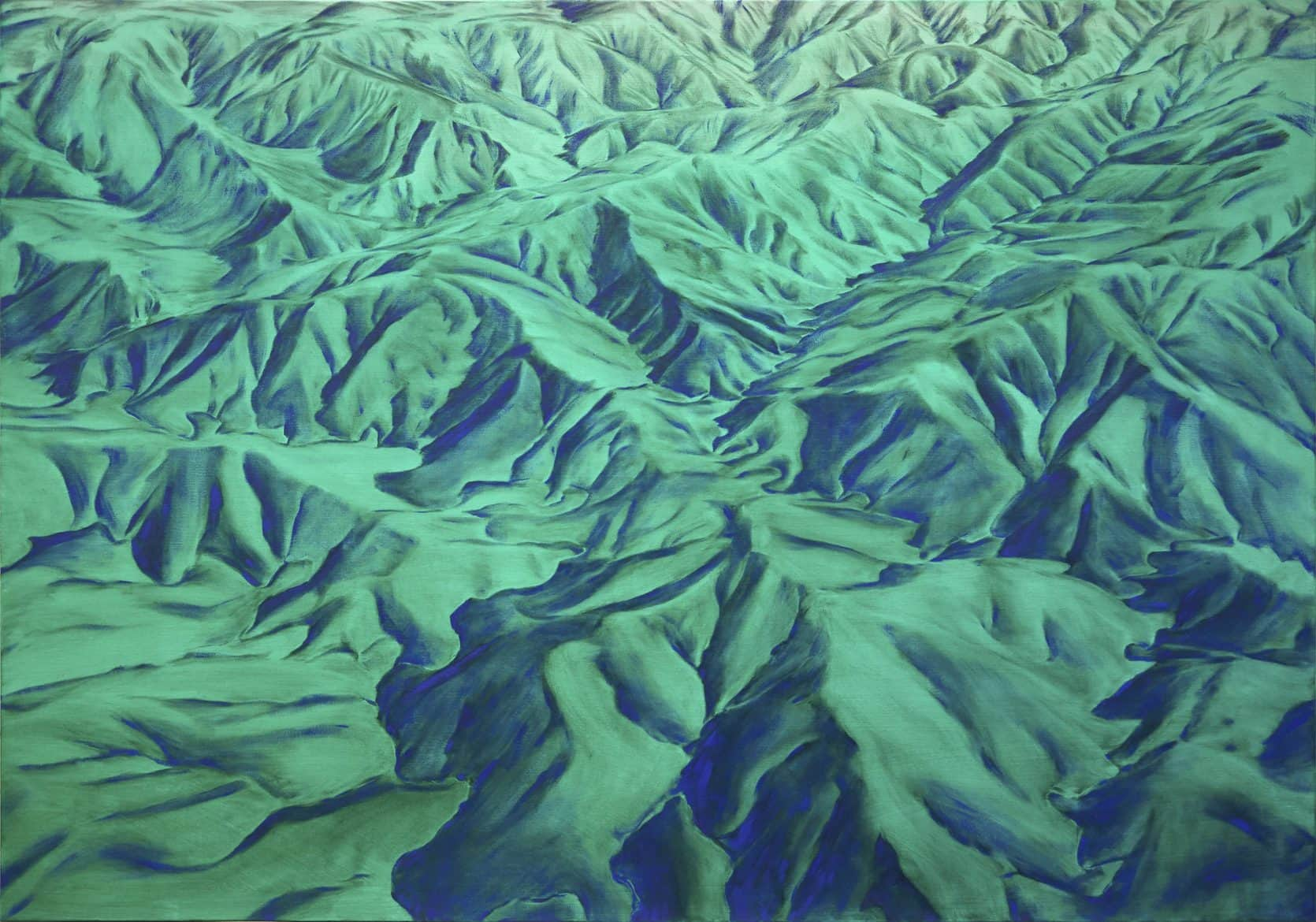 Piers Greville, 'Phase Space Green', 2020, oil on linen, 200 x 140 cm