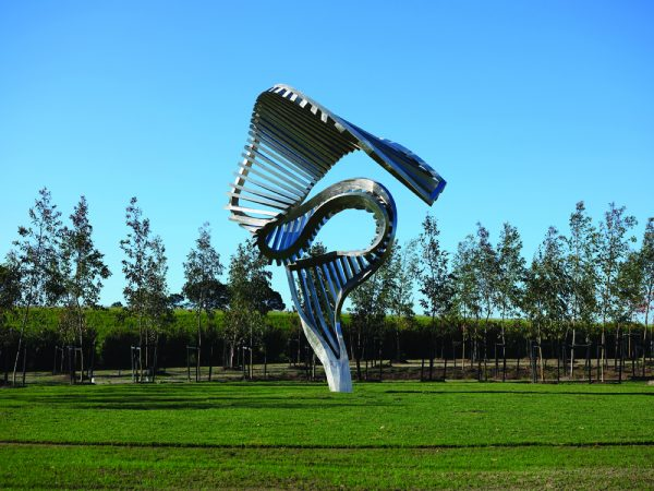 'Rise 1', 2011, stainless steel Point Leo Estate, Victoria