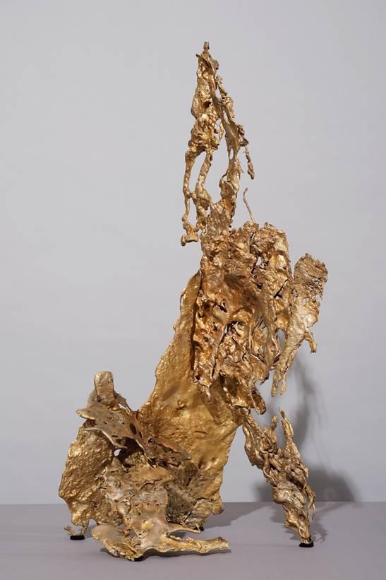 'Cognition 2', 2019, bronze, 66 x 30 x 50 cm, unique
