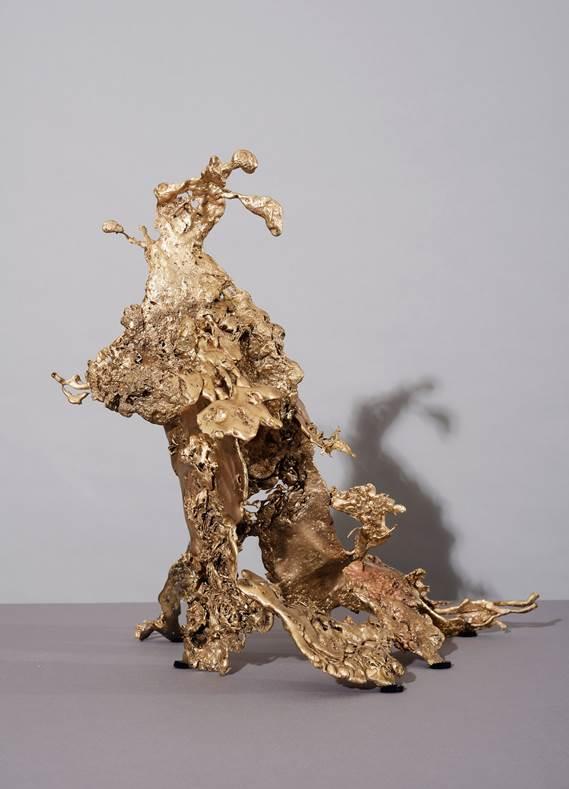 'Cognition 3', 2019, bronze, 44 x 42 x 40 cm, unique