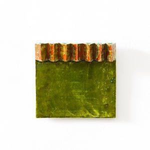 Dominik MERSCH GALLERY, Claudia Terstappen, 'Limegreen Fries II', 2019, glazed ceramic, 22 x 23 x 4 cm