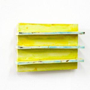 Dominik Mersch Gallery, Claudia Terstappen, 'Three lines', 2019, glazed ceramic, 13 x 20 x 4 cm
