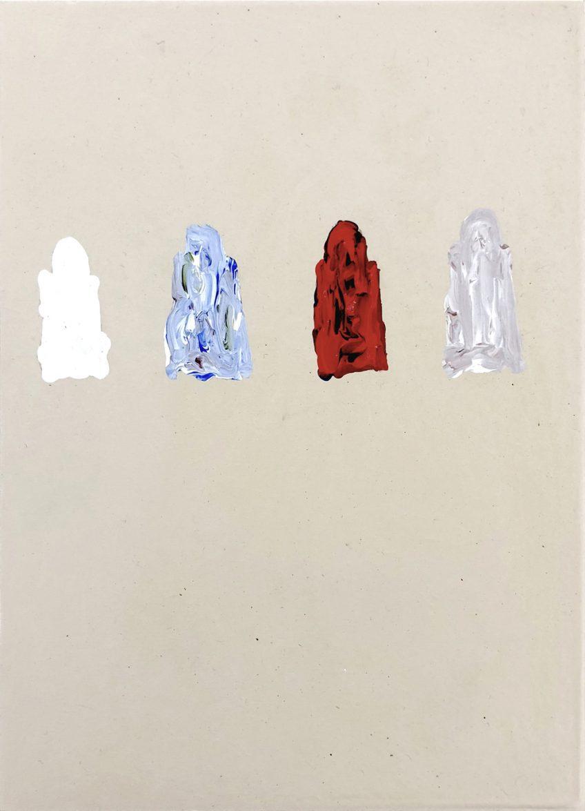 Dominik Mersch Gallery, Clemens Krauss, 'Remaining Silent 4', 2013, acrylic on board, 18 x 13 cm