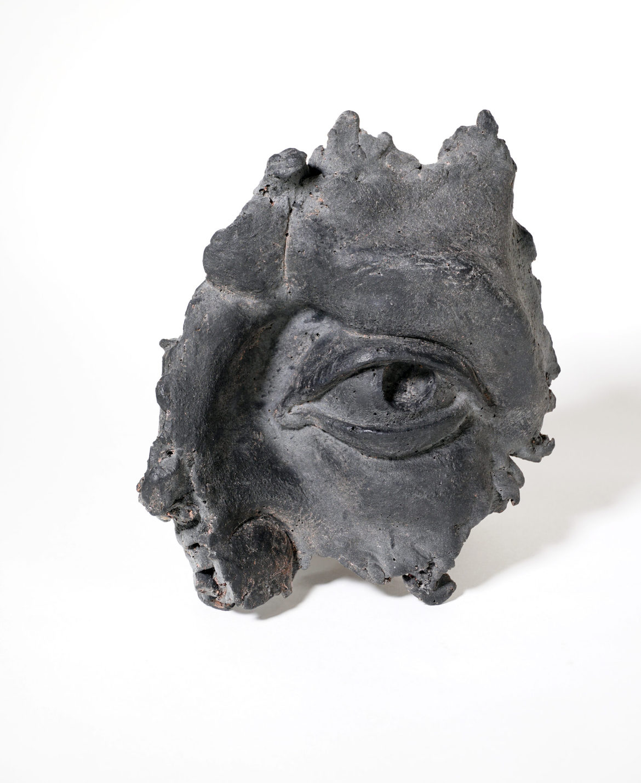 'eye – Donatello [black frost]', 2020, resin, 23 x 16 x 11 cm