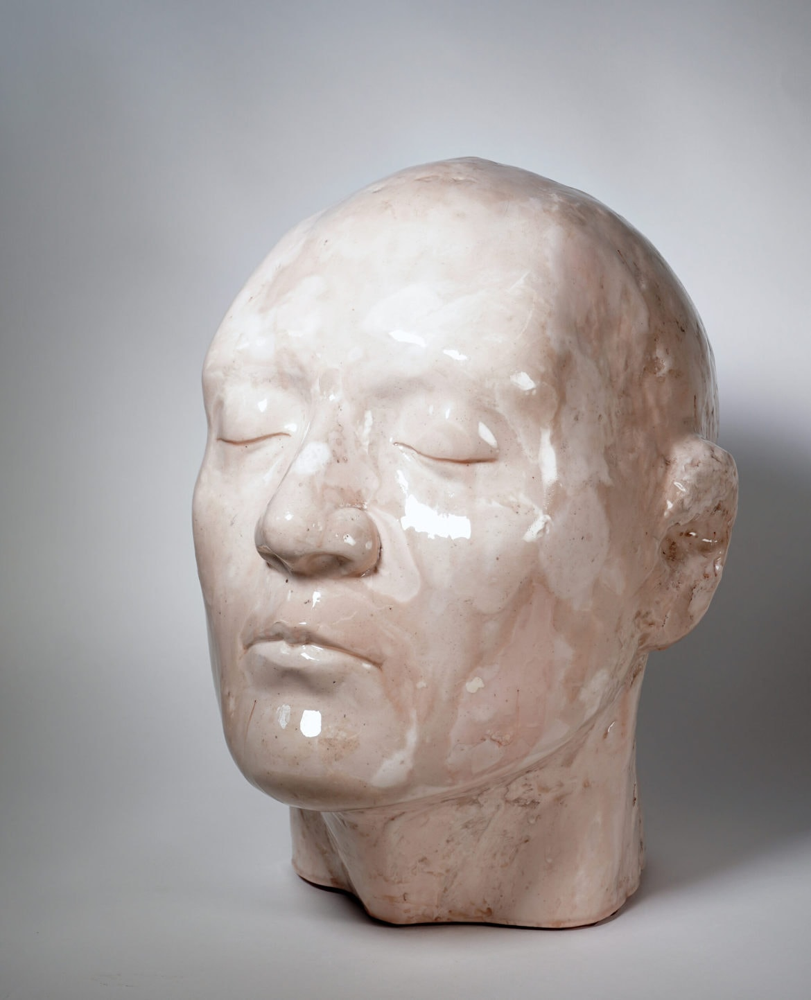 'it came at some cost', 2001-2020, plaster, resin, mixed media, 39 x 37 x 30 cm