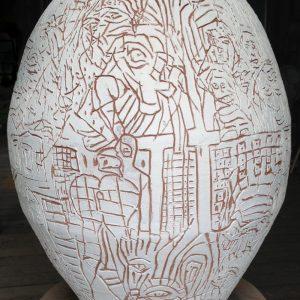 Locust Jones, 'La Luta Continua', 2013, dry glazed ceramic, 80 x 70 x 70 cm