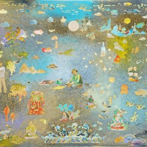 Tim Johnson,'U.T', 2019, acrylic on canvas, 65 x 75 cm