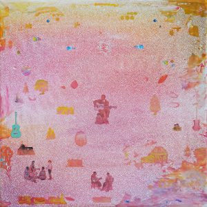 Tim Johnson, 'Lead Belly', 2019, acrylic on linen, 106 x 106cm