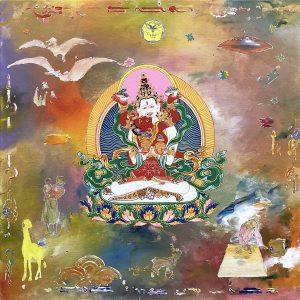 Tim Johnson and Daniel Bogunovic, 'Sitasamvara', 2019, acrylic on canvas, 60 x 60 cm
