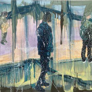 Jon Cattapan, THREE SENTIENT, oil on linen, 140 x 180 cm