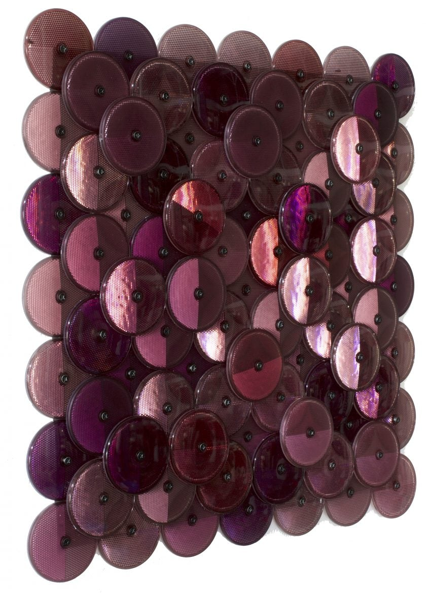 Dust (Dark Purple), customised corner reflectors, 42 x 42cm