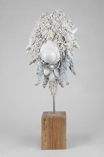 Juz Kitson, 'Accumulated Associations', 2020, Jingdezhen and Dehua porcelain, blackbutt timber, steel, resin, silicone, enamel, 93 x 52 x 39 cm