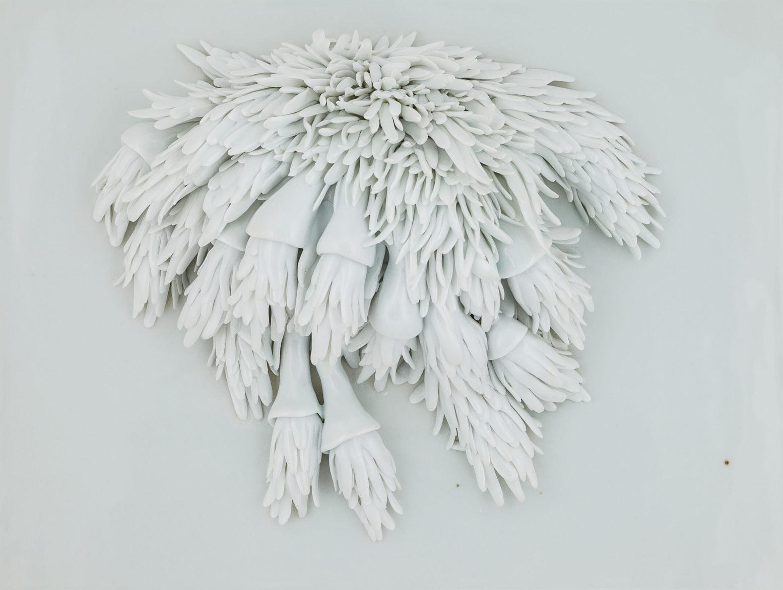 'Providing a natural camouflage', <br /> 2018, Jingdezhen porcelain, 29 x 37 x 10 cm