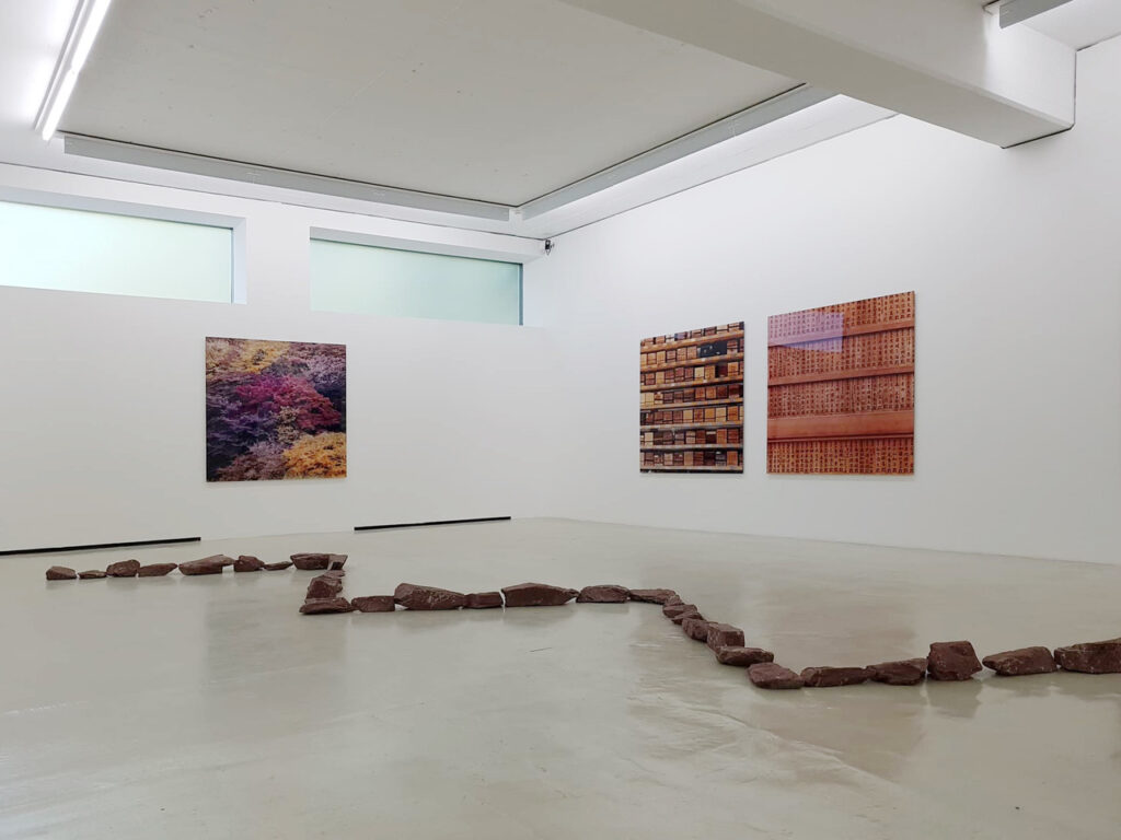 DKM Museum Exhibition view with works by Richard Long and Claudia Terstappen, Photo SDKM 2