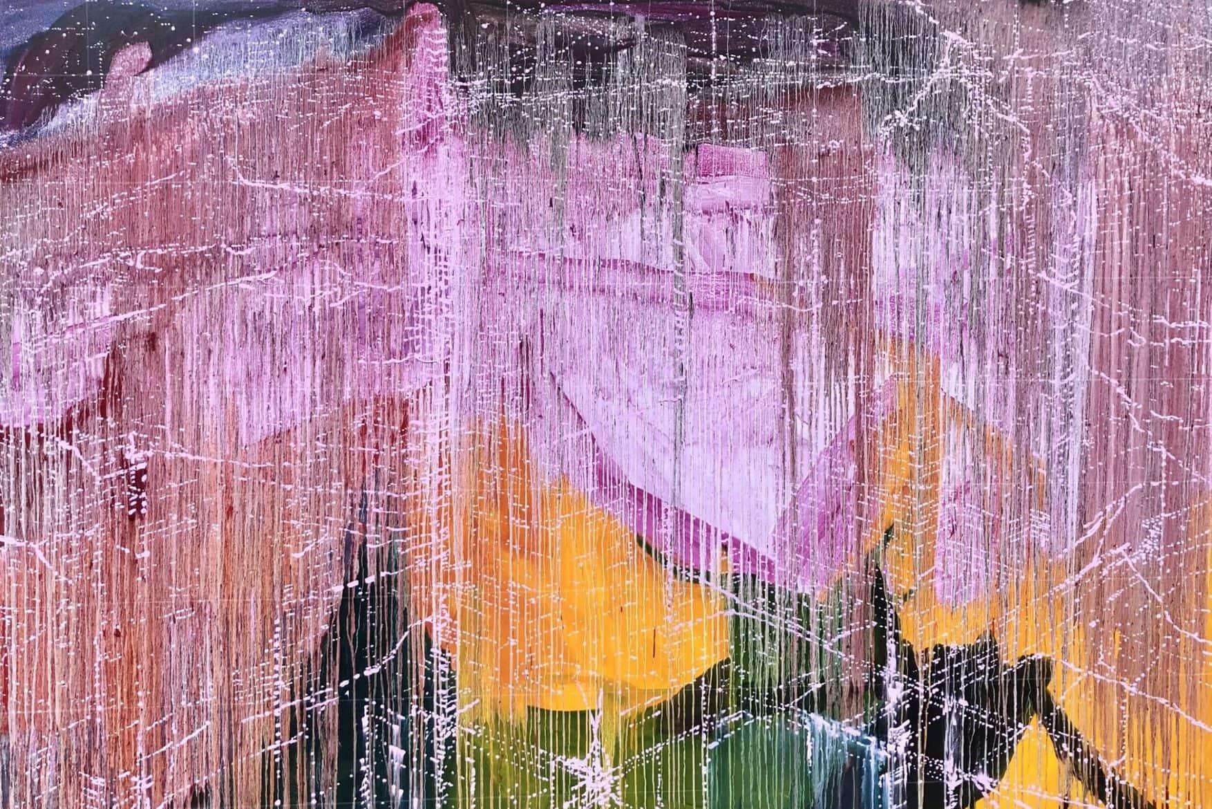 'Pink Variance 3', 2020-21, oil on linen, 183 x 250 cm