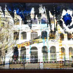 Locust Jones, 'Wuhan Diary', 2020, mixed media on translucent film with face-mounted photographic image on acrylic in framed light box, 80 x 140 x 11 cm