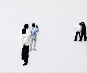 'Subtitle 10', 2011, oil on canvas, 35 x 115 cm,